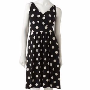 Chaps Polka-Dot Empire Dress size XL